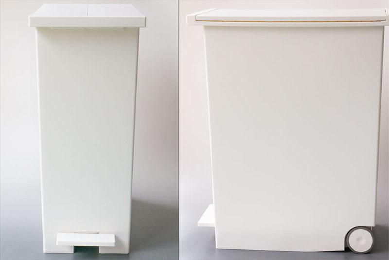 KEYUCA(ケユカ) arrots ダストボックス 観音開き ゴミ箱 正面と側面と。