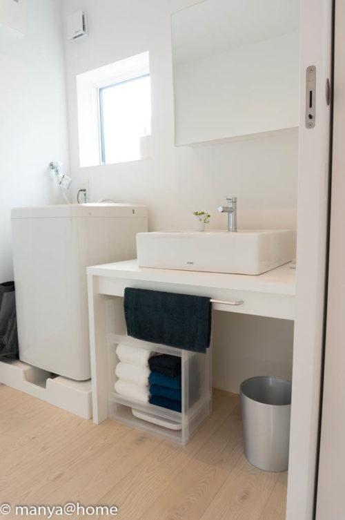 無印良品の家 つくば店「窓の家」モデルハウス 2F洗面台