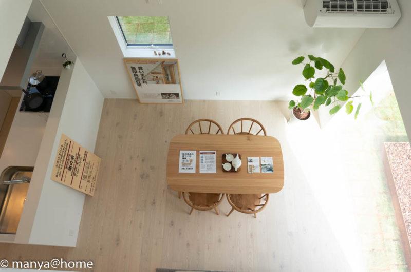 無印良品の家 つくば店「窓の家」モデルハウス 1F見下ろし