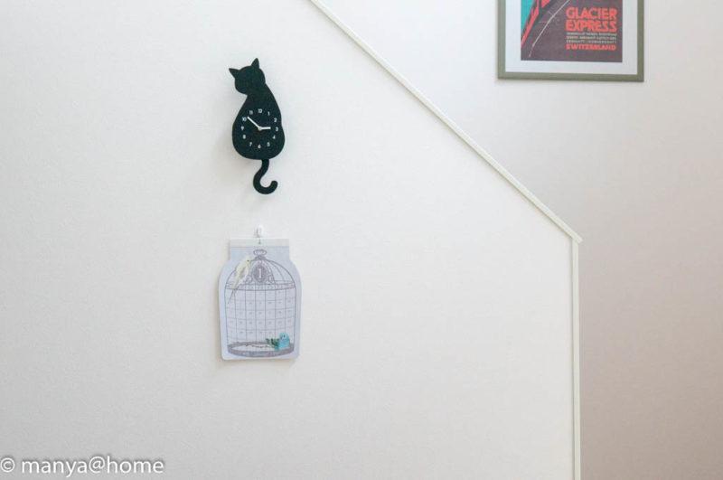 Seria(セリア) 「3ピン ダブル強力フック」「ダイカット壁掛けカレンダー 鳥かご」