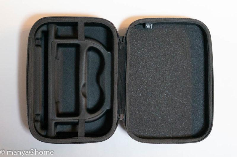 Amazonベーシック Nintendo Switch用携帯&収納ケース ブラック 見開き