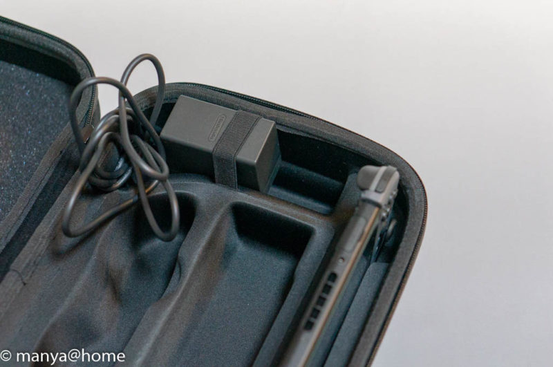 Amazonベーシック Nintendo Switch用携帯&収納ケース ブラック ACアダプタ収納方法