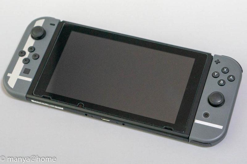 【Nintendo Switch 6.2インチ対応】 大きめサイズ ブルーライトカット 1枚組 日本メーカー 全面保護 ガラスフィルム貼付後
