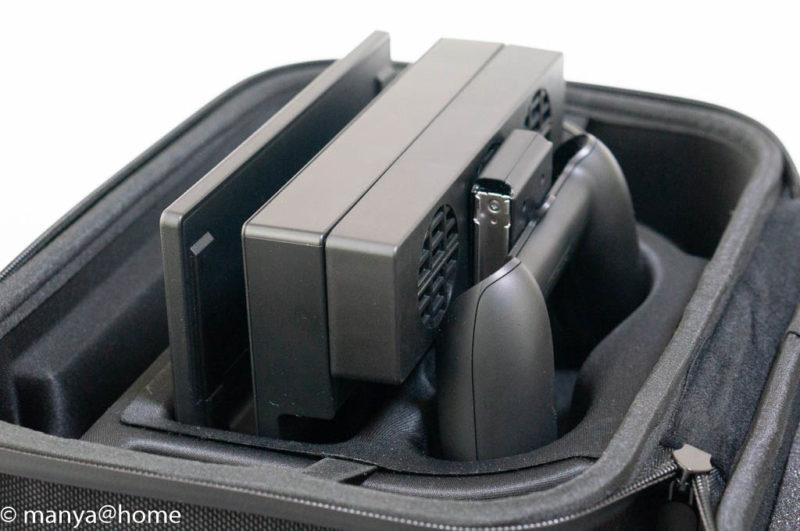 Amazonベーシック Nintendo Switch用携帯&収納ケース ブラック Nintendo Switch専用 ハイパワー冷却ファンごと収納
