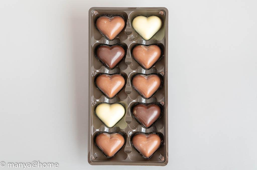 ハムレット ラブハーツチョコレート 10粒 125g
