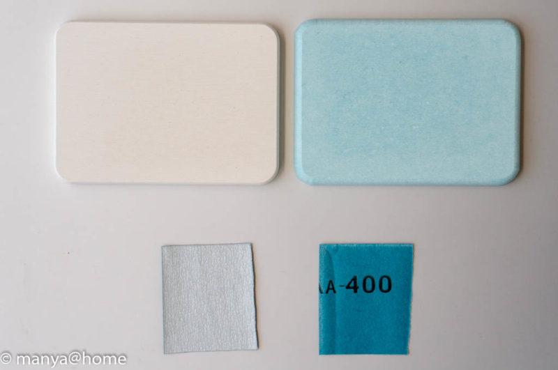 カインズホーム「珪藻土 石鹸トレイ」付属品:サンドペーパー(#400)