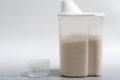 お米は無印のライスストッカーで冷蔵庫保存。
