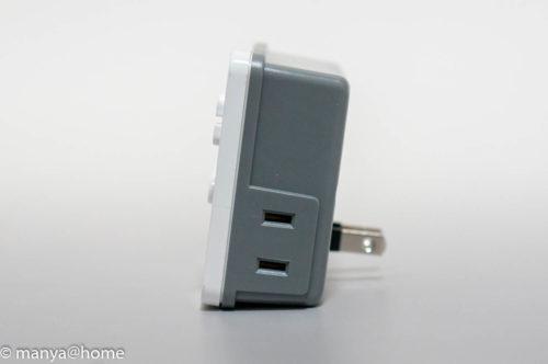 リーベックス 簡単デジタルタイマー PT70DW 側面