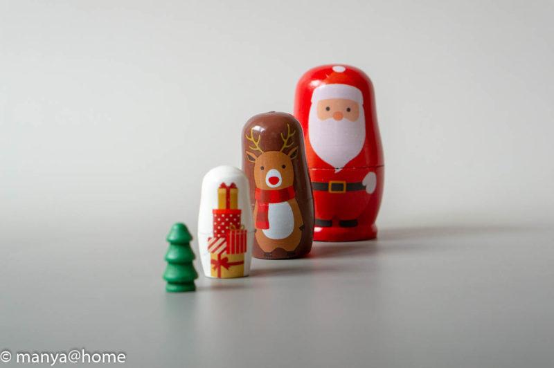 マトリョーシカ レッド(3COINS ナチュラルオレンジクリスマス)別撮り