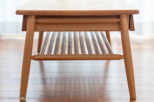 ISSEIKI エラン 100 センターテーブル棚板収納2