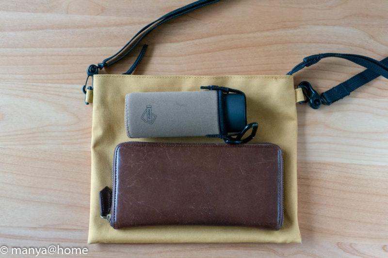 POKETLE(ポケトル) POKETLE S 120ml 無印良品「撥水サコッシュ」 長財布も一緒に