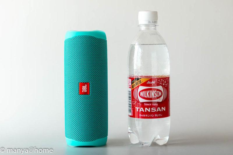 JBL FLIP5 500mlペットボトルサイズ比較