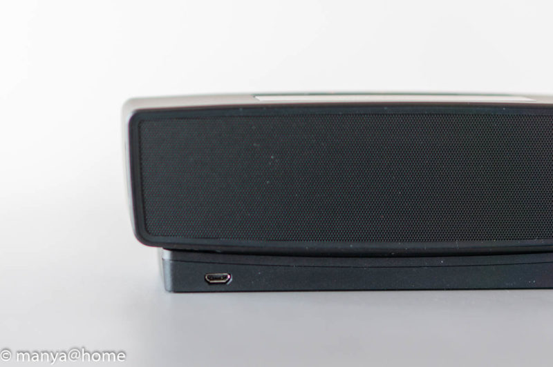 Bose SoundLink Mini Bluetooth speaker II 背面クレードル接続状態
