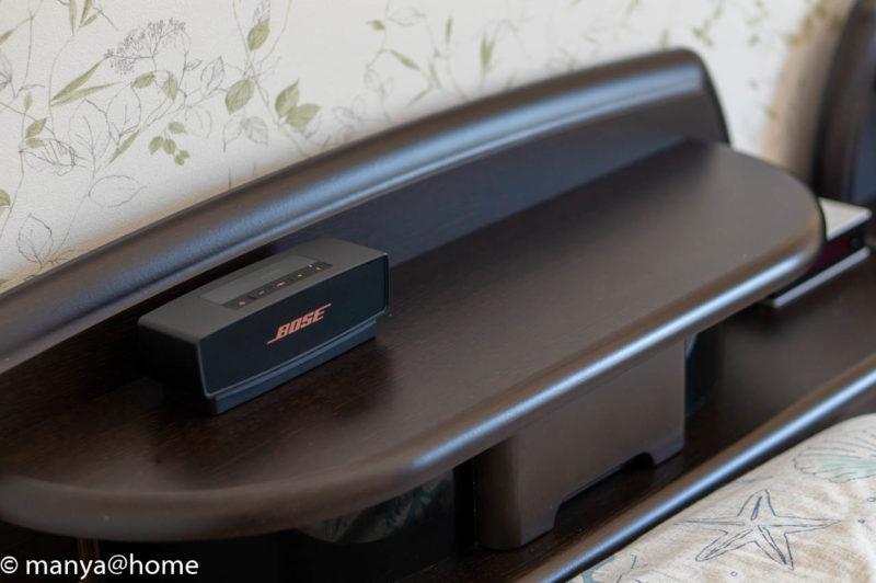 BOSE(ボーズ) SoundLink Mini speaker II ベッドサイド設置例
