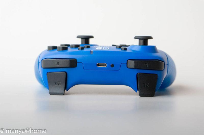ワイヤレスホリパッド for Nintendo Switch ブルー 天面