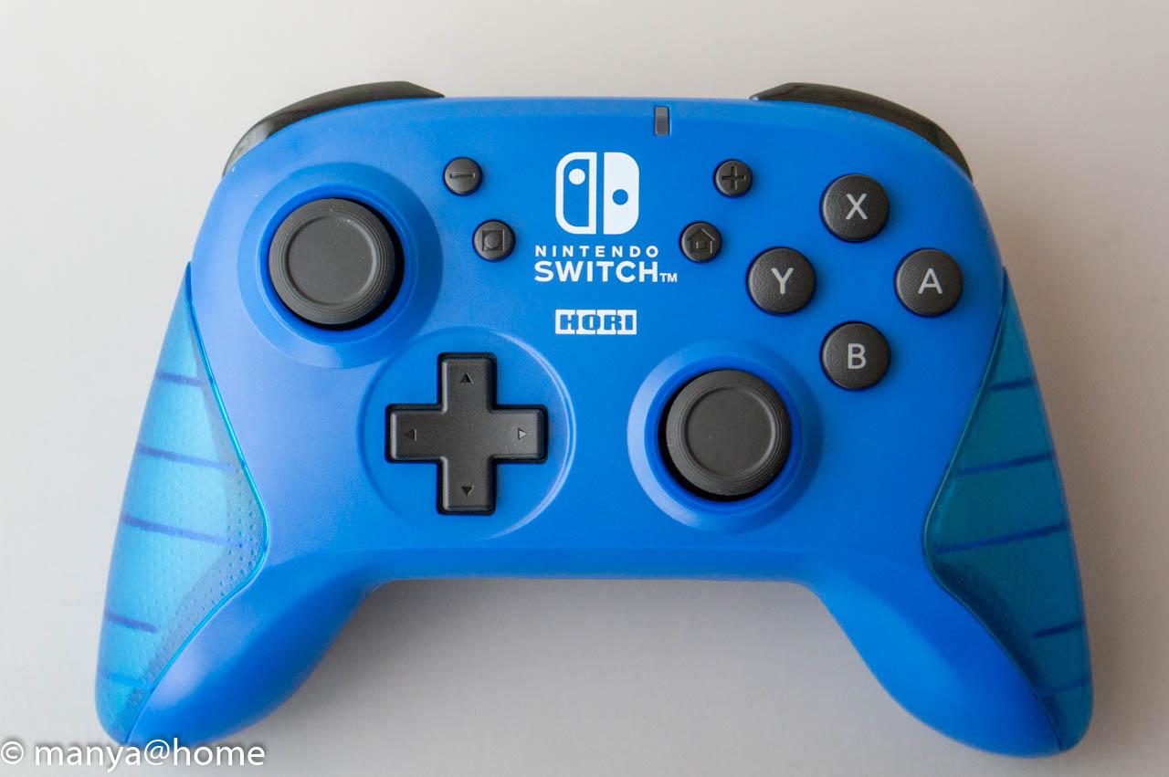 ワイヤレスホリパッド for Nintendo Switch ブルー 外観