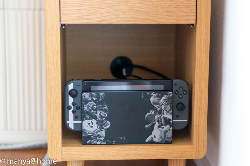 ISSEIKI CURIP-3 SIDE TABLE 30 オープン部 Nintendo switch収納