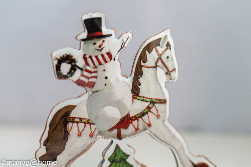 【3COINS CHRISTMAS】ゆらゆらスノーマン裏面