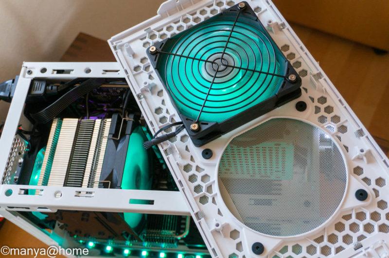 Ryzen5600X MINI-ITX トップファン構成