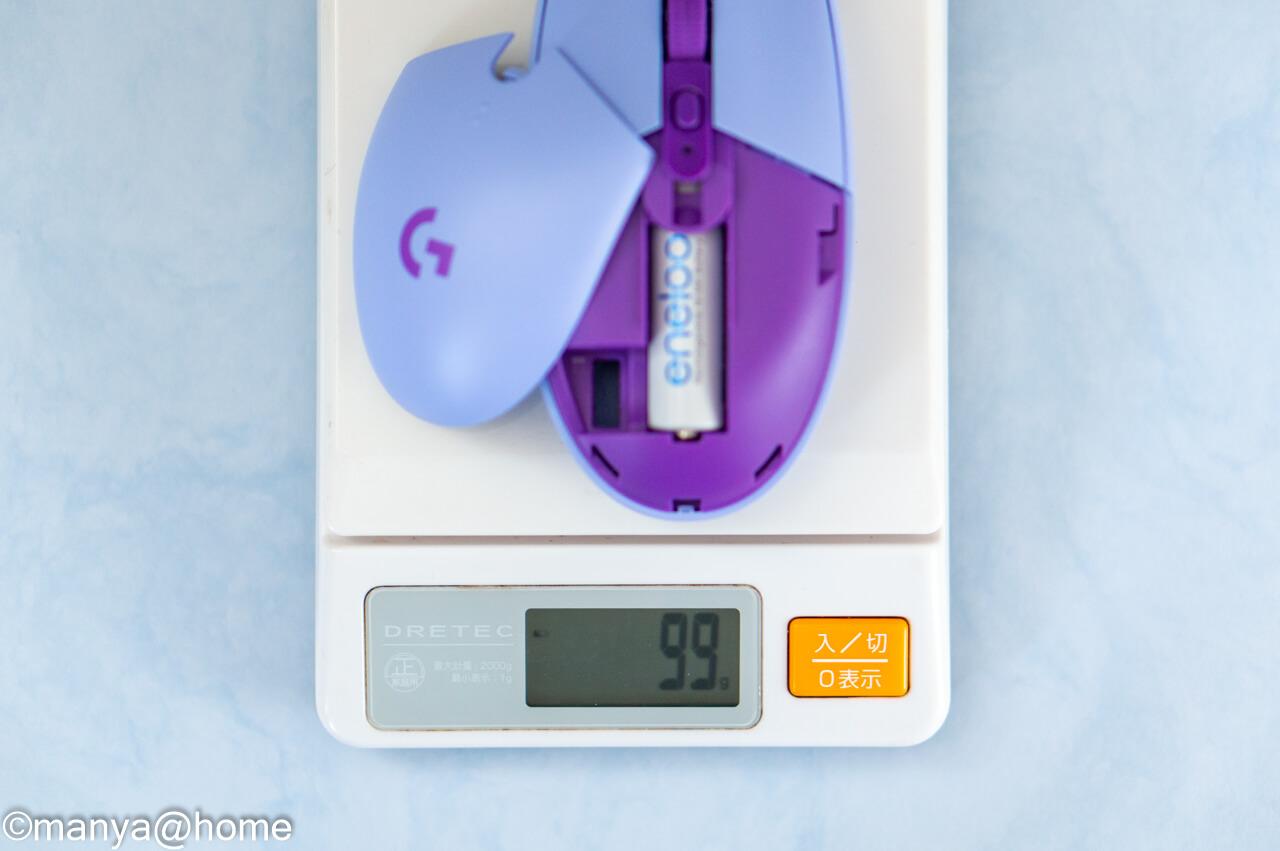 Ligicool G304 ライラック 重量 単三電池