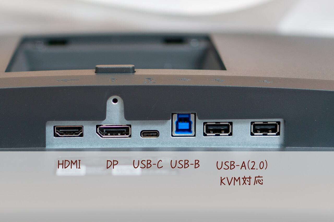 DELL-P3421W接続端子説明