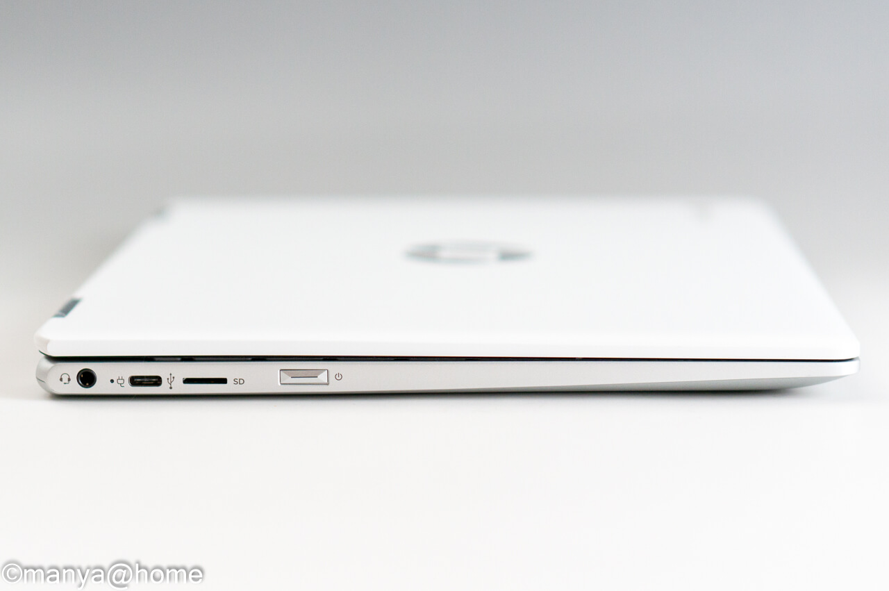 HP Chromebook x360 12b 左側面