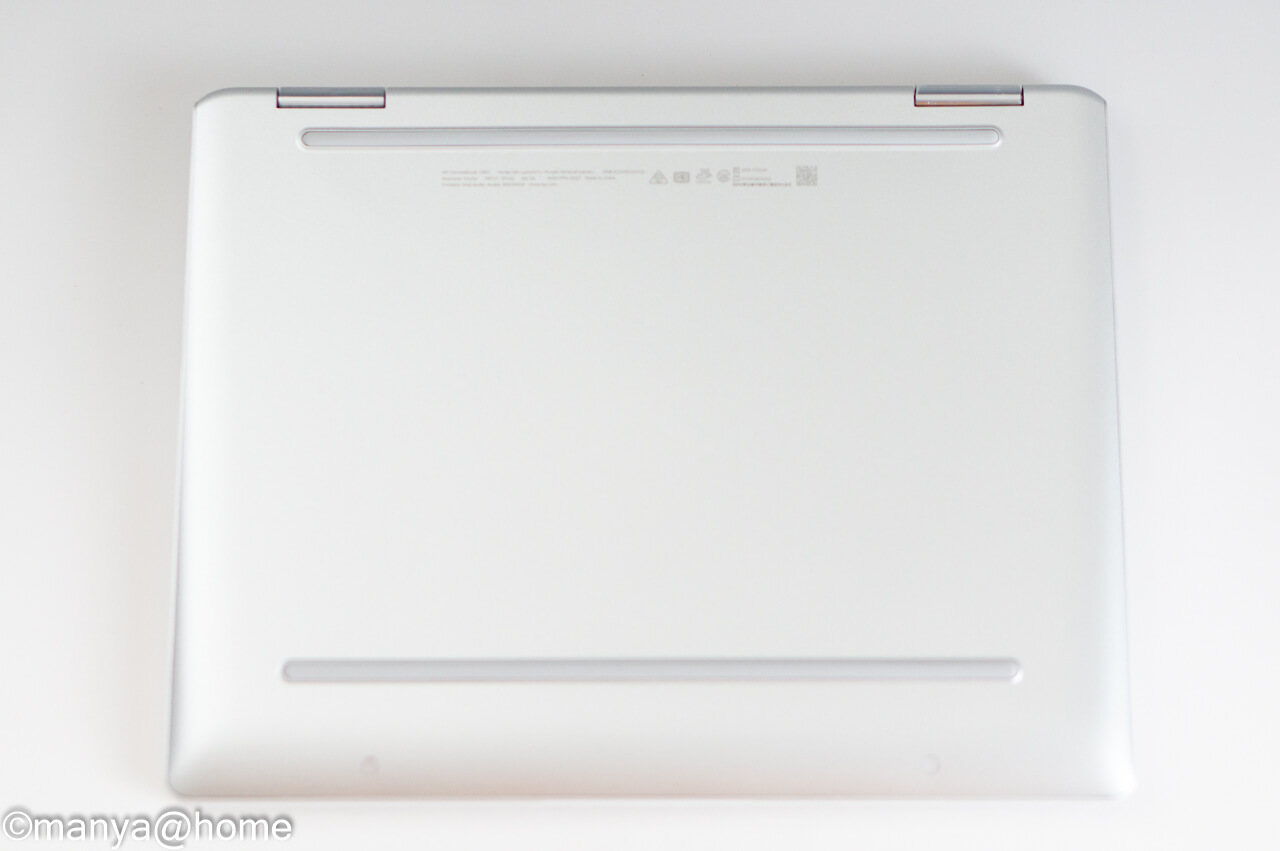 HP Chromebook x360 12b 底面