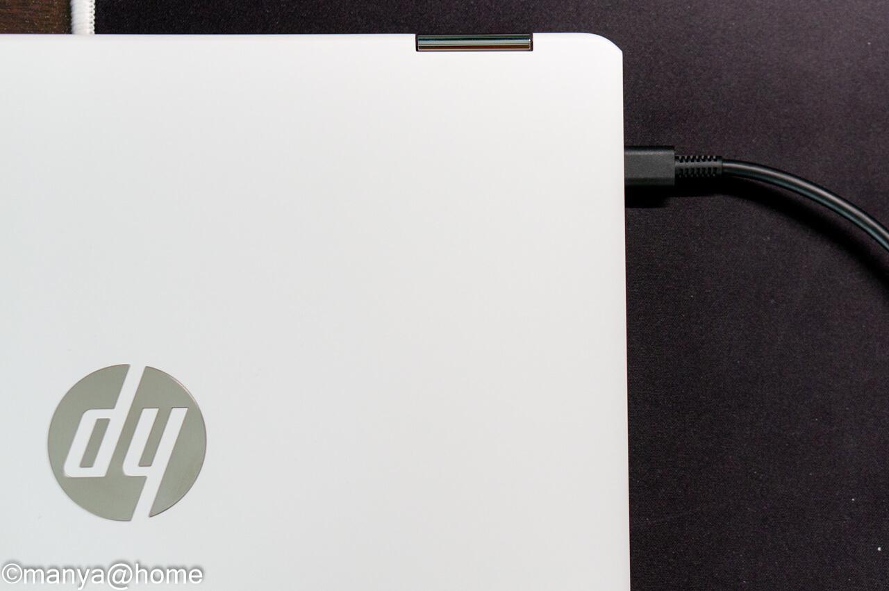 HP Chromebook x360 12b 電源ケーブル接続