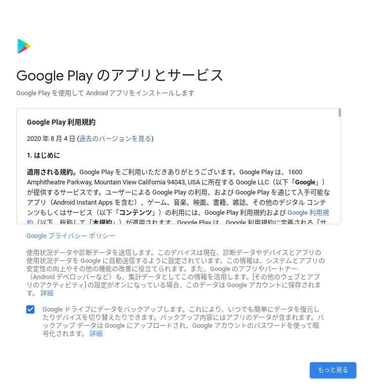 Chromebookはじめてのセットアップ。初期設定画面⑥Chromebookの初期設定Googleplay1