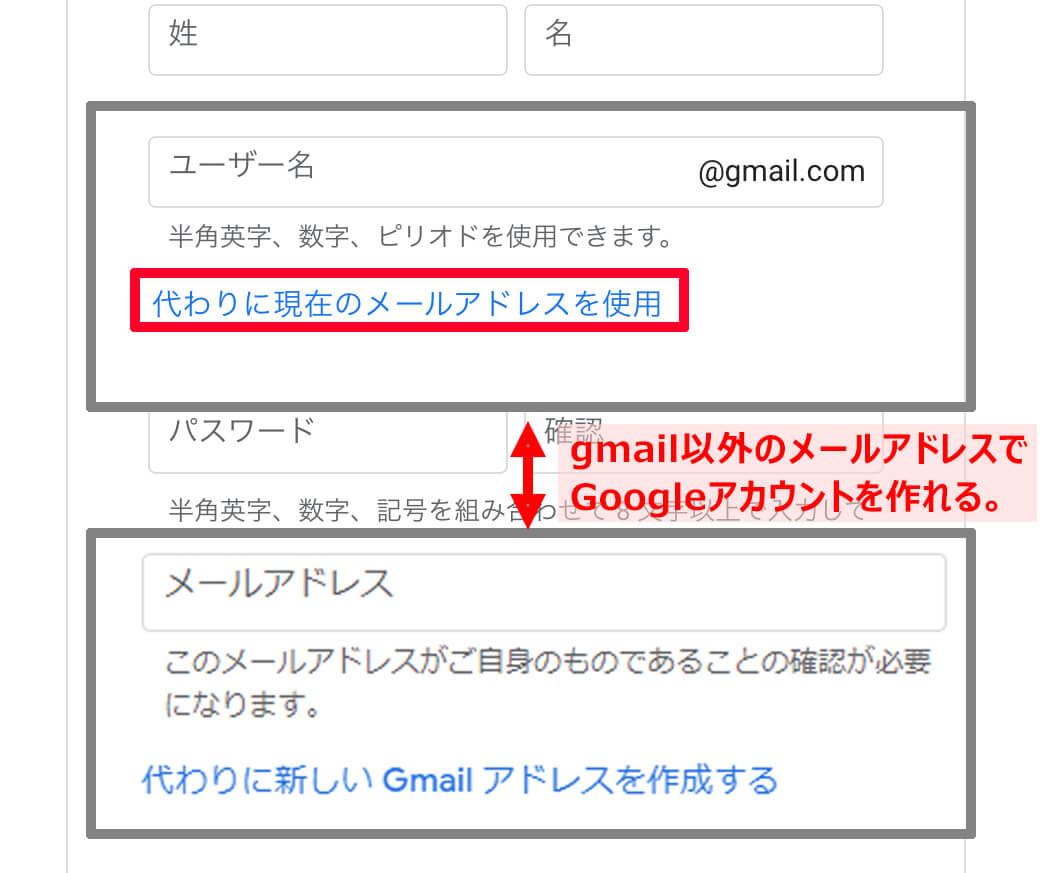 googleアカウントの作り方③