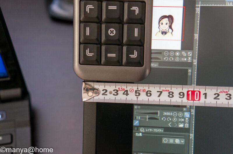 XP-Pen AC19 shortcut remote 左上設置 サイズ