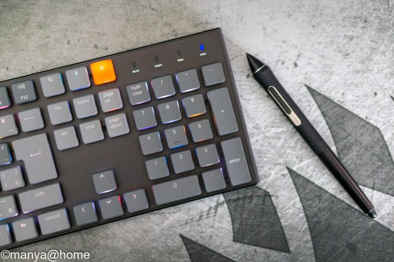 「keychron K1」オレンジキーキャップ