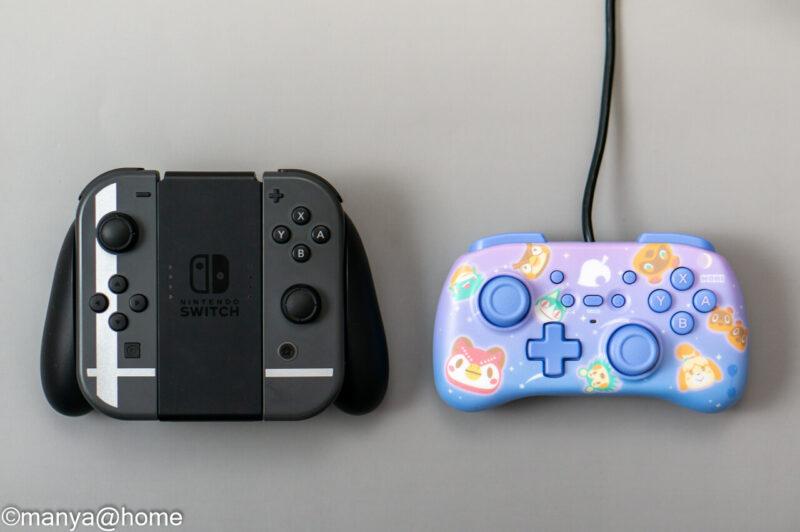 どうぶつの森 ホリパッドミニ for Nintendo Switch サイズ比較