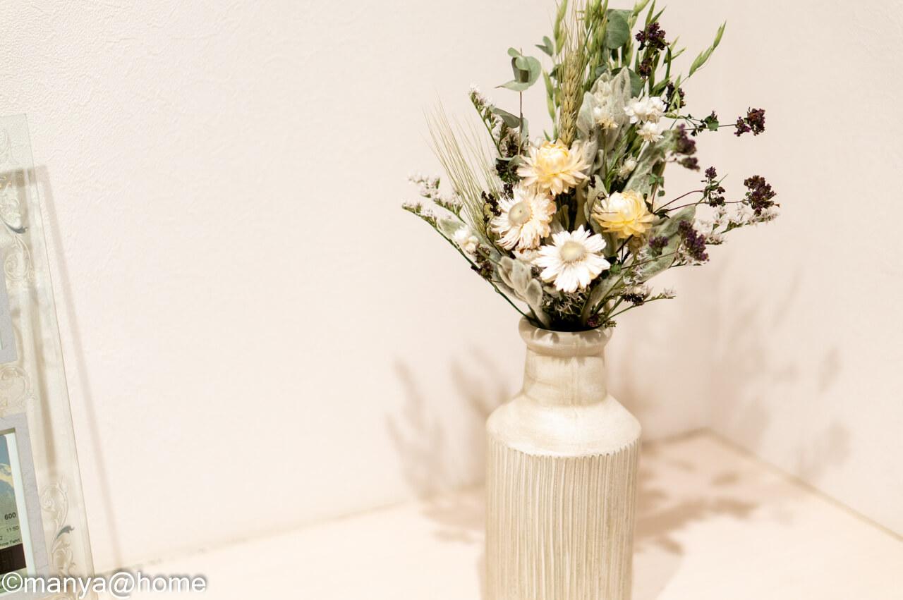 蓼科プランツ ドライフラワーの花束 ひすい フラワーベース使用